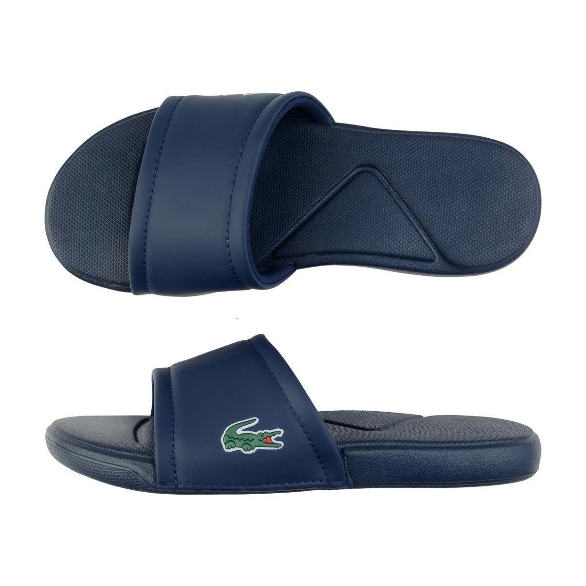 bf85eed4e1c6 LACOSTE lacoste navy slider 7-35CAJ001195K - Babies Blessings