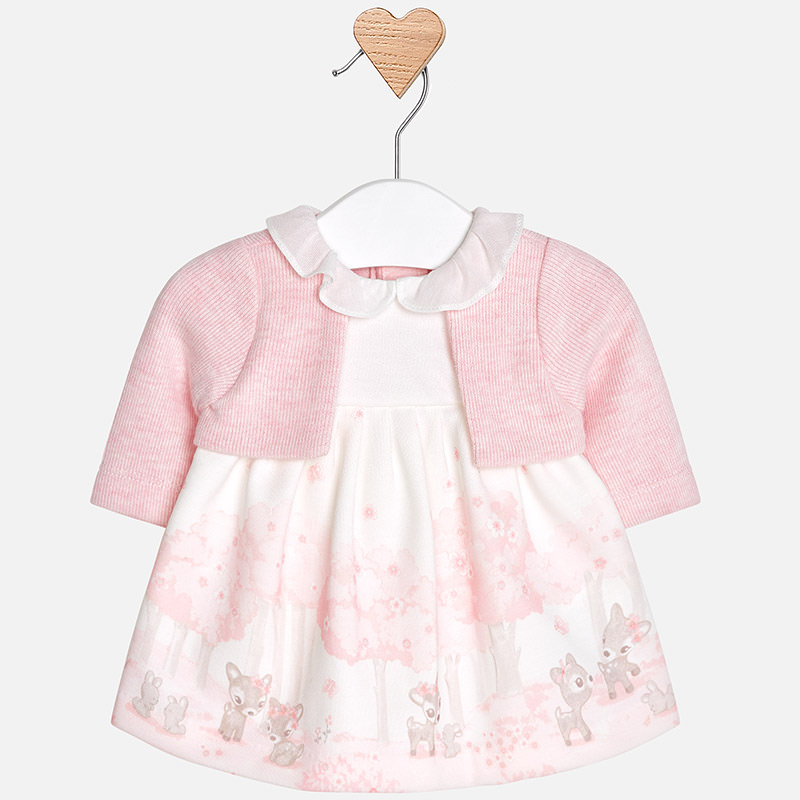 4656317d7af4 MAYORAL dress with attached cardigan 2.806 - Babies Blessings
